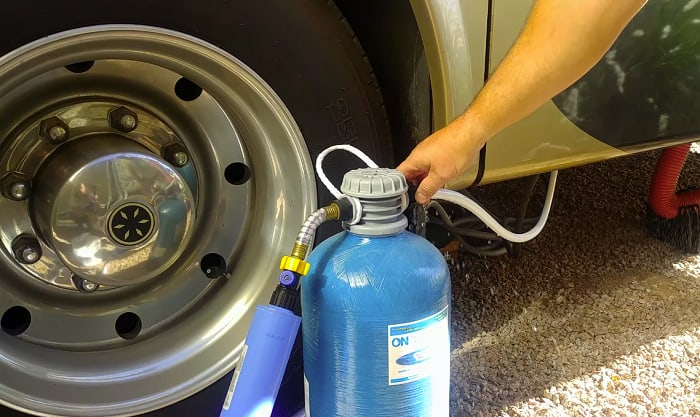 best portable water softener for rv