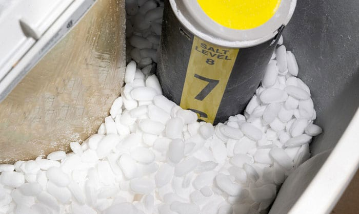 what happens if water softener runs out of salt